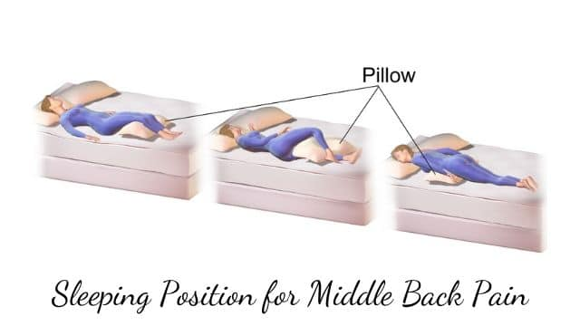 Sleeping Position for Middle Back Pain