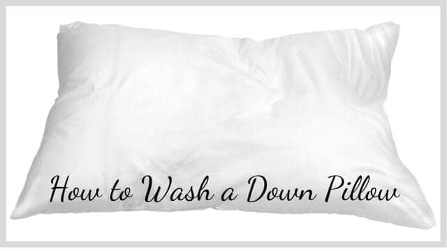 How to Wash a Down Pillow