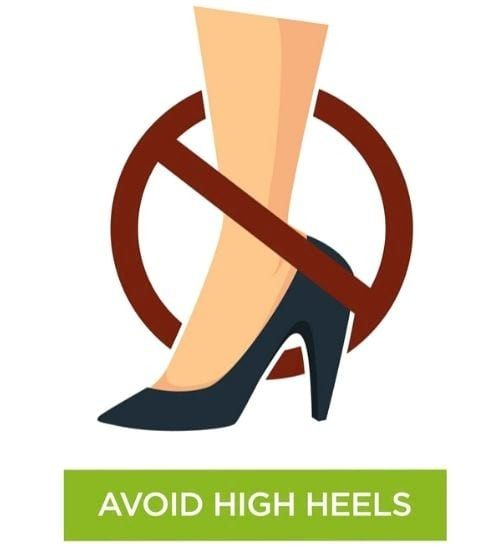 Avoid high heels