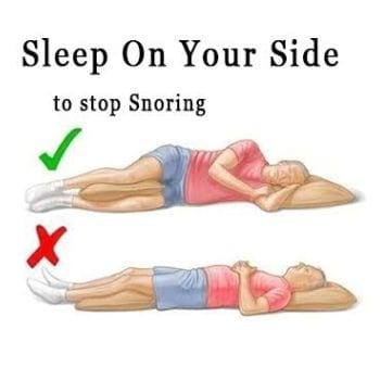 How to sleep to stop snoring