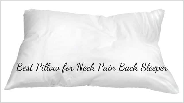 Best Pillow for Neck Pain Back Sleeper