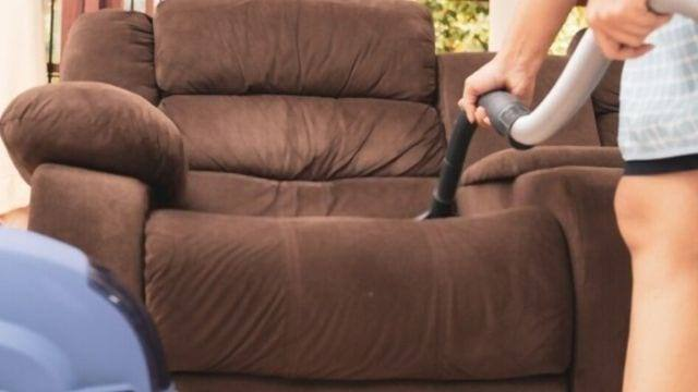 how to clean leather recliner headrest