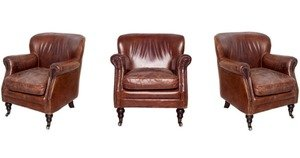 luxury leather club chairs