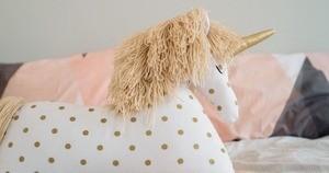 sequin unicorn pillow